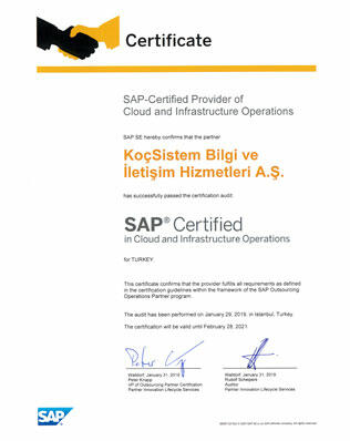 KoçSistem Cert Cloud Infrastructure Local 2019