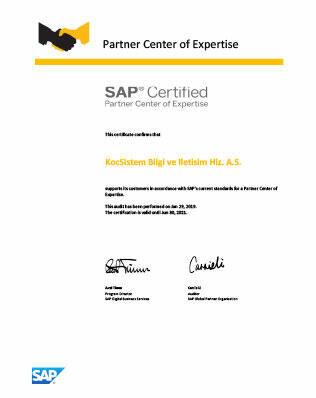 PCOE Certificate KoçSistem 509112