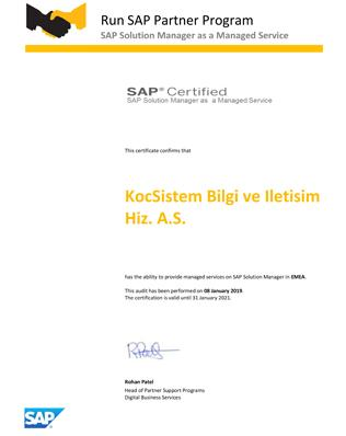 SAP Solution Manager as a Managed Service